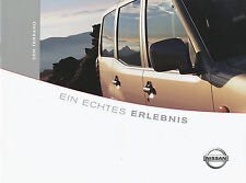 BROCHURE Nissan Terrano 2002 Car Brochure 4 02 Brochure Car Japan SUV