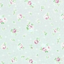 Cottage Shabby Chic Lecien Princess Rose Small Roses Fabric 31267L-90 Grey BTY