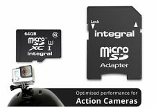 Integral 64GB Class 10 UHS-I U3 microSDXC Card for Sports Action Cameras.