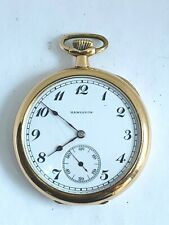 1918 Hamilton Model 910 17 jewel gold filled pocket watch