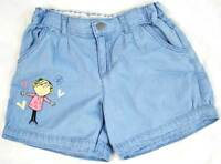 Marks and Spencer girls summer cotton Charlie and Lola shorts blue or white NEW