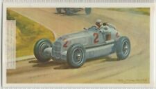 1935 French Grand Prix Mercedes W-25  Race Vintage Trade  Ad Card