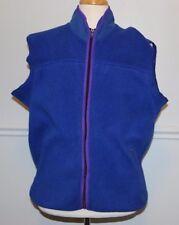 Penfield Vintage Fleece Plüsch Weste XL Made in USA blau Eisbär Logo Full Zip