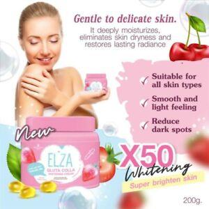 Elza Gluta Colla Whitening Super Moisture Body Cream 200 g .New Product