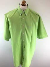 BEN SHERMAN Mens Shirt M Medium Green Polyester Oversize Retro