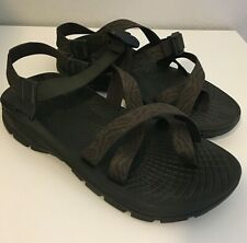 Chaco Mens Classic Hiking Sandals Shoes Toe Ring Green Brown Size 9