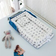 Baby Bassinet Bed Portable Lounger Newborn Breathable Foldable Nest W/ Pillow Us