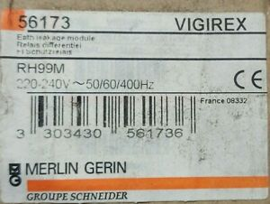 Merlin Gerin 56170 Vigirex RH99M Relais Differential Relay-12/48v 50/60Hz NEU
