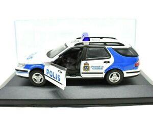 MODELLINO AUTO POLIZIA DEL MONDO SCALA 1:43 SAAB 9-5 DIECAST COLLEZIONE police .