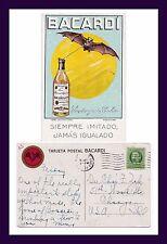 CUBA BACARDI RUM ADVERTISING BAT DRINKING RUM 1939 TO DR. CHARLES ZAK, CHICAGO