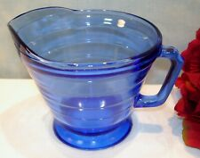 Cobalt Blue Depression Glass Hazel Atlas Moderntone Creamer