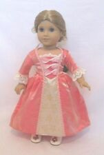 """Doll Clothes Colonial Meet Dress Gown Elizabeth Felicity For 18"""" American Girl"""