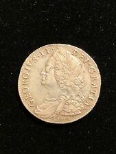 ENGLAND 1746 Silver Half Crown, George II, S-3694, AU Rare Grade, Great Britain