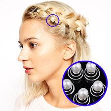 12Pc Women White Pearl Hair Pins Spiral Spin Elegant Screw Pin Hairpin Clips