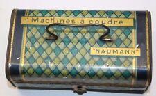 antique german litho tin box seidel et naumann ( boite machine a coudre )