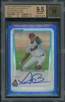 2011 Bowman Chrome Draft Trevor Bauer Auto Blue Refractor BGS 9.5 /150 Rc Rookie