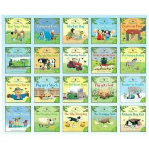 Early Learning Usborne Farmyard Tales 20 Book Collection Set - GIFT