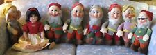 "Snow White (Ideal 22"" Shirley Temple) & Seven Dwarf (Knickerbocker 14"") Doll Set"