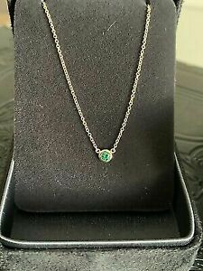 Tiffany & Co colour by yard emerald necklace NEW