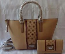 GUESS NEW NWT ARVIN CARRYALL SATCHEL HANDBAG PURSE WITH MATCHING WALLET