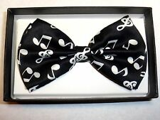 New Black Music Note Bow Tie BowTie Ties Tuxedo  US SELLER