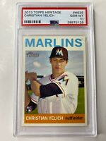 2013 Topps Heritage Christian Yelich ROOKIE RC #H536 PSA 10 GEM MINT ⚾️🔥