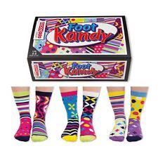 United Oddsocks Foot Kandy Everyday Women Size 4-8 UK Six Socks All Odd Gift Box