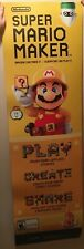 Large Nintendo Super Mario Maker Play Create Share Store Display Sign/Poster