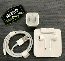 iPhone Cube Charger, Usb Cable, Headphones For Iphone, 7, 8, X, Xr Xs, Original.