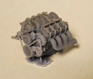 1/24 1/25 Scale LS Engine W/ Accesory Belt For Model Car LS Swap