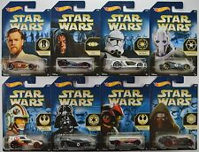2015 Hot Wheels Walmart STAR WARS: Force Awakens - COMPLETE 8 CAR Set - Factions