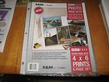 """AVERY PHOTO PAGE  4""""x6"""" LANDSCAPE 3 HOLE PUNCH 5PK LOT OF 5 PICTURES FILM  BOOK"""