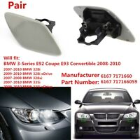 Right+Left Headlight Car Washer Cover Cap Lamp Cover for BMW E92 E93 328i 328xi