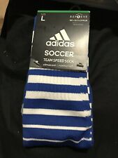 Adidas Team Speed Soccer Socks Climacool Formation Navy Blue Size Large 9-13