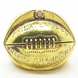 1948 COMMEMORATIVE CHAMPIONSHIP RING EAGLES SIZE 11
