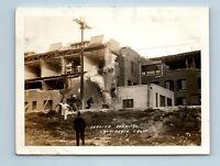 Long Beach, CA - 1933 EARTHQUAKE DISASTER VTG PHOTO SNAPSHOT - HOSPITAL CRUMBLES