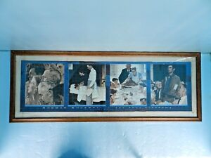 """NORMAN ROCKWELL""""THE FOUR FREEDOMS""""THE SATURDAY EVENING POST~1943`16x43 FR.PUZZLE"""
