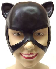 CATWOMAN MASK ADULT SUPERHERO FANCY DRESS COSTUME HALLOWEEN EARS HALF HEAD CAT