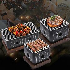 Portable Japanese Bbq Charcoal Grill Stove Indoor Outdoor Barbecue Cooking Oven