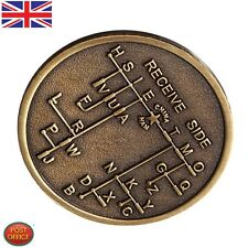 Alloy Steel Bronze Mores Code Decoder Chart Medal Commemorative Coin Gift Prize