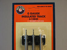 LIONEL O GAUGE INSULATED STRAIGHT TRACK SECTION train traditional 3 rail 6-12840