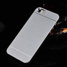 Premium Brushed Metal Aluminum Case Apple iPhone 5 SE 6 7 8 Plus X Xs + Glass