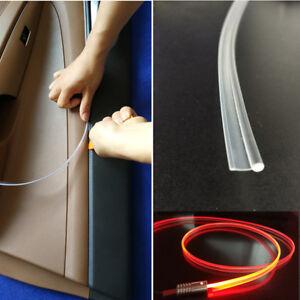 5m 3mm Glow Optic Fiber Cable Insert Hem Car Interior Panel Light Accessories