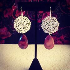 Silver Plated Stone Handcrafted Earrings