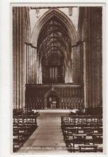 Choir Screen & Organ York Minster Vintage RP Postcard 576a