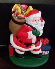 NEW IN BOX-1992-Lillian Vernon #9454-Santa Claus Cast Iron Doorstop-Pack of Toys