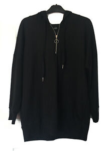 Ladies Black Hoodie Hooded Jumper Size 16 From Yours Clothing