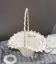 5 Mini Streukörbchen Blumenkinder ivory creme Hochzeit Biedermeierkörbchen