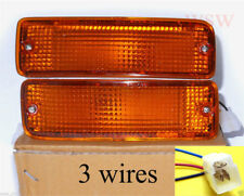 Amber Bumper Parking Signal Light 3 Wires Fit 89-95 Toyota Pickup 90-91 4RUNNER