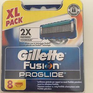 8 Gillette Fusion Proglide Lamette rasoio in conin con Numero serie